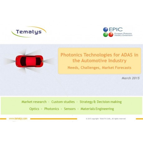 1Photonics Technologies for ADAS in the Automotive Industry Needs, Challenges, Market Forecasts