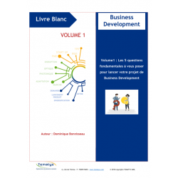 LIVRE BLANC :  Business Development (French Version) - volume 1